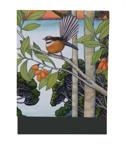 Fantail Flits By The Bay - Mini Notepad