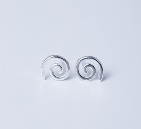 Sterling Silver Earrings - Koru Spiral