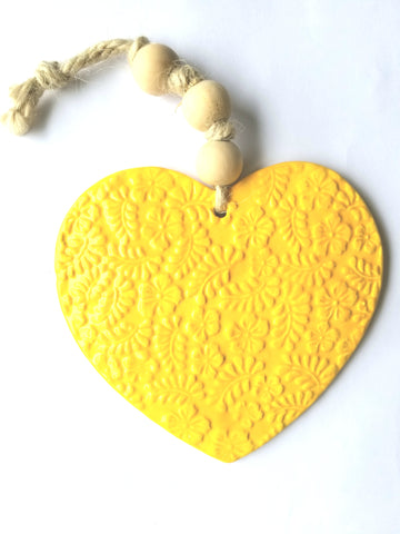 Handmade Heart Embossed Extra Large