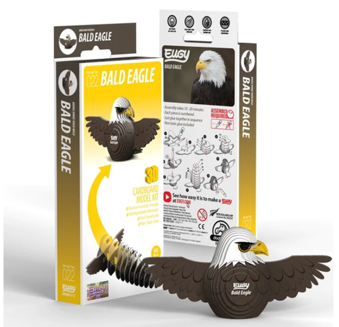 3D Cardboard Kit Set - Bald Eagle