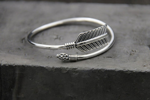 Sterling Silver Arrow Bangle