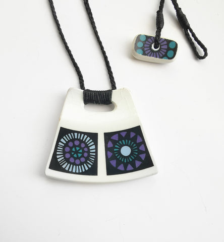 Recycled China Pendant - Trapezoidal Queensberry