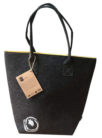 Kowhai Yellow & Grey Shoulder Tote
