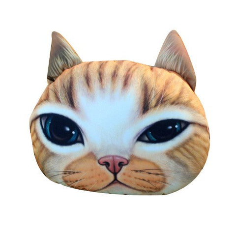 Ginger Cat Car Neck Cushion