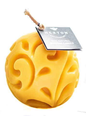 100% Natural Beeswax Candle - Ball