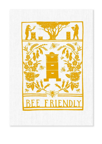 Tea Towel - Bee Friendly - Wolfkamp & Stone