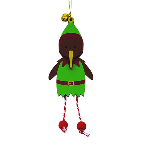 Xmas Decoration Wobbly Elf Kiwi
