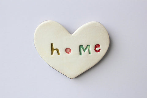 Ceramic Floating Heart Tile - Home
