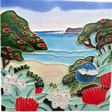 Tui at the Beach Ceramic Tile Wall Art 15x15cm