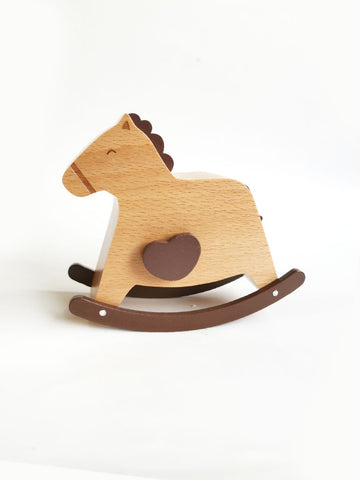 Wooden Music Box - Rocking Horse