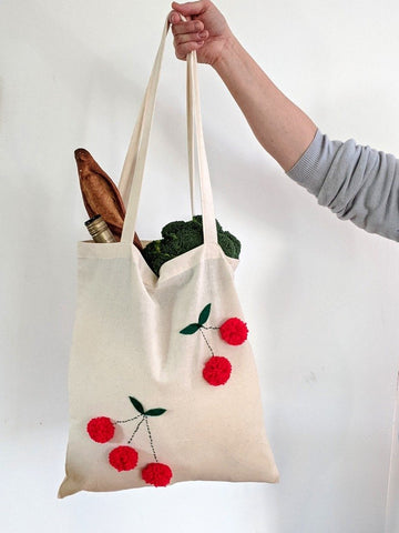 Make your own Cherry Tote Bag