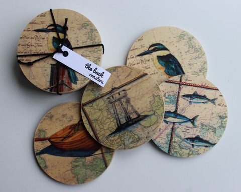 Wooden Map coasters