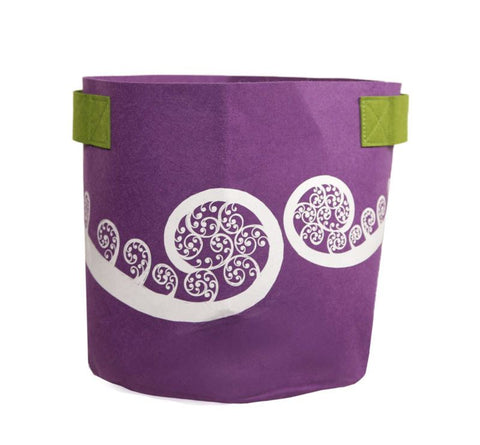 Ponga Purple & Green 7 Gallon Felt Bag