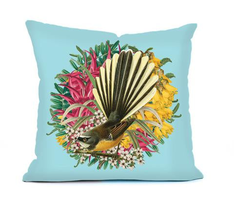 Botanical NZ Fantail Cushion cover