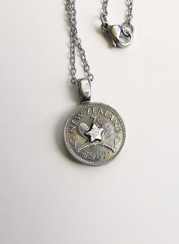 Re-minted Petite Coin Pendants - Threepence