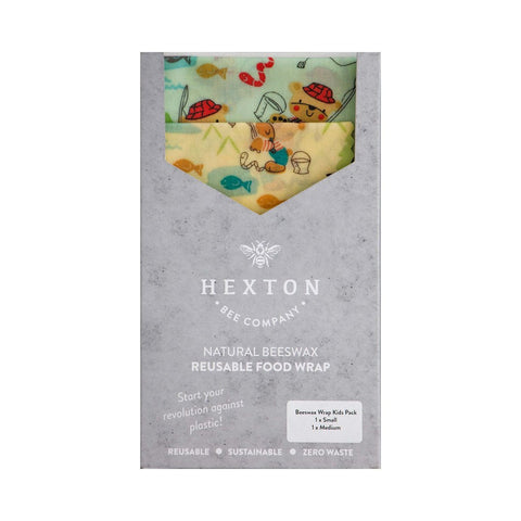 Beeswax Food Wrap Kids Pack - Gone Fishing