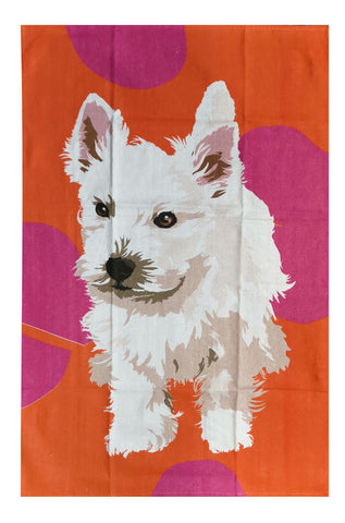 Tea Towel - Westie Puppy