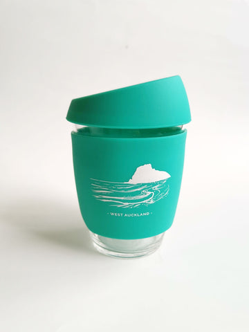 Reusable Glass Cup - Turquoise