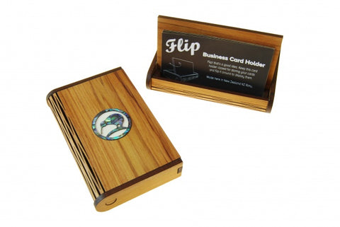 Flip Business Card Holder - Kiwi