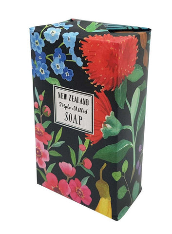 Watercolour NZ Flowers Soap
