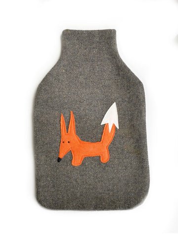 Hotwater Bottle Cover - Mr Fox Grey