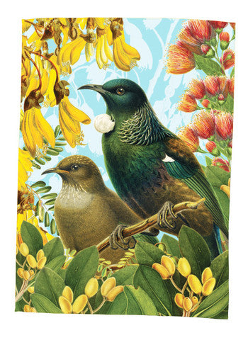 Botanical NZ Tui  - Tea Towel