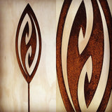 Corten Spinning Art - Fish Hook Grounded Art NZ