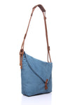 Canvas Shoulder Bag - Blue