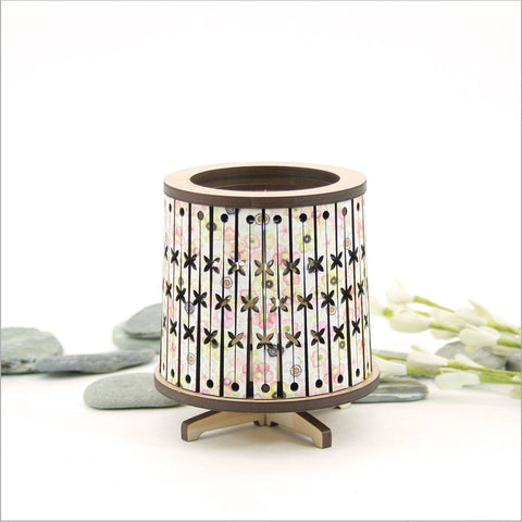 Round LED Tealight Holder - Floral Pacific