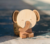 Wooden Music Box - Smiling Elephant