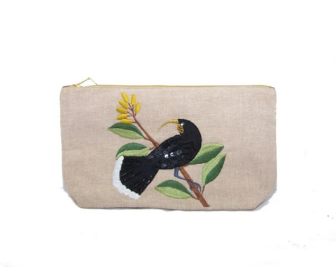 Huia Cosmetic on linen
