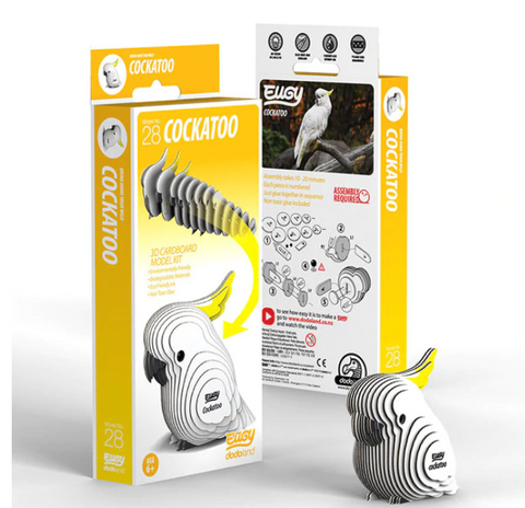 3D Cardboard Kit Set - Cockatoo