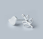 Bird & Leaf - Sterling Silver