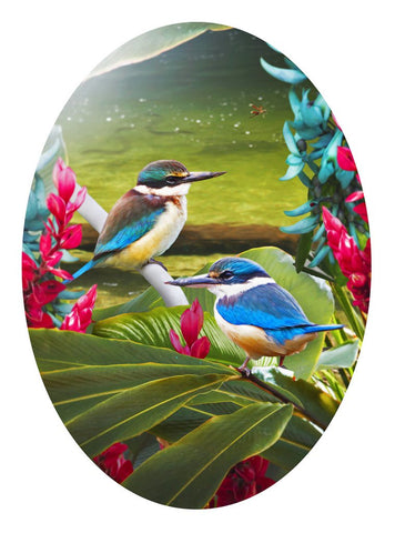 Harmony Kingfisher Kotare - Card