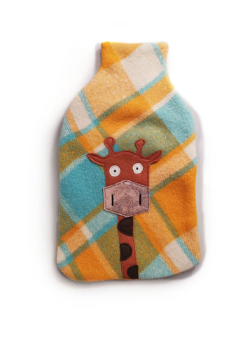 Hotwater Bottle Cover - Mr Giraffe Orange Blanket