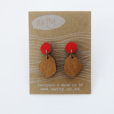Wooden Colour Hanging Earrings