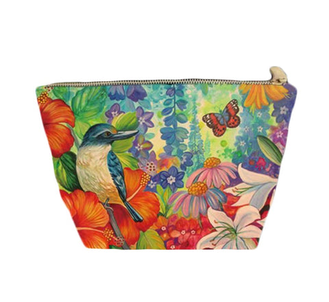 Cosmetic Bag - Kingfisher Hibiscus