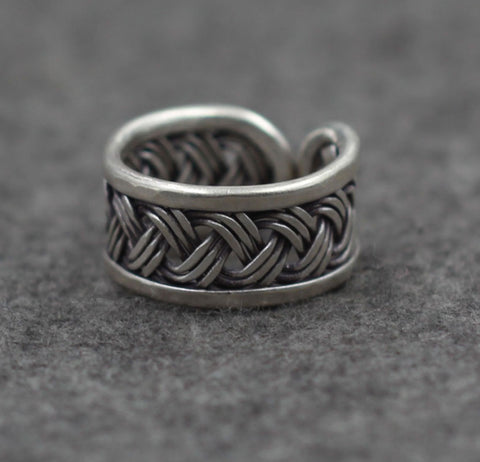 Weave Silver Ring - Open End