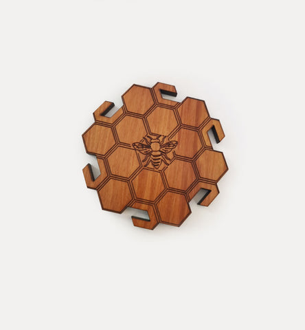Octagonal Bee coasters