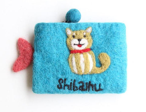 Wool Felt Pouch - Dog