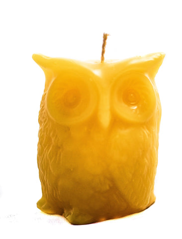 100% Natural Beeswax Candle - Owl