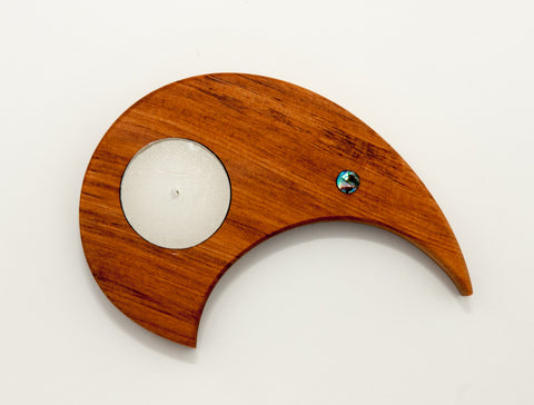Single Rimu Kiwi Candle Holder