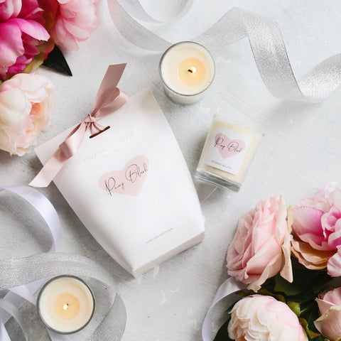 PEONY BLUSH SOY VOTIVE IN GIFT BAG candle