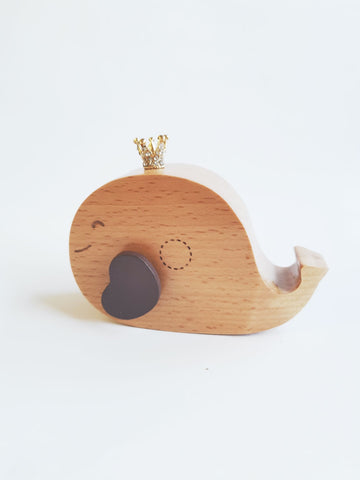 Wooden Music Box - Whale