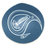Kiwi Paisley On Blue - 7cm Porcelain Bowl