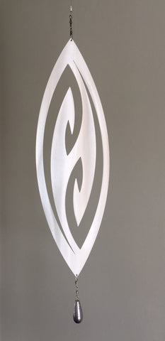 Swivel & Shine Aluminium hanging Art - Fish Hook Grounded Art NZ Made