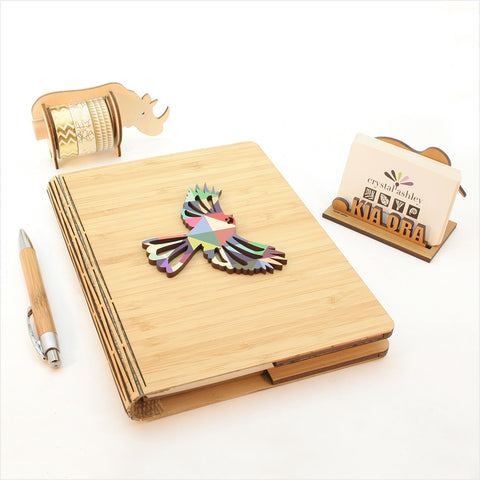 Bamboo Journal L - Geometric Fantail