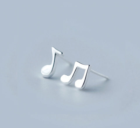 Sterling Silver Studs - Musical Note