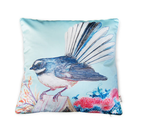 Cushion cover - Fantail & Pohutukawa