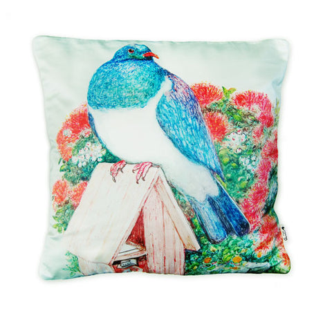 Cushion cover - Wood Pigeon & Mailbox